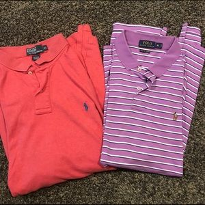 Polo Ralph Lauren polo s/s shirts lot of 2 XL
